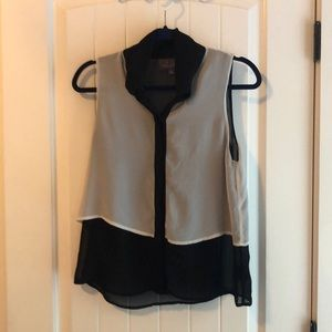 PJK white and black blouse